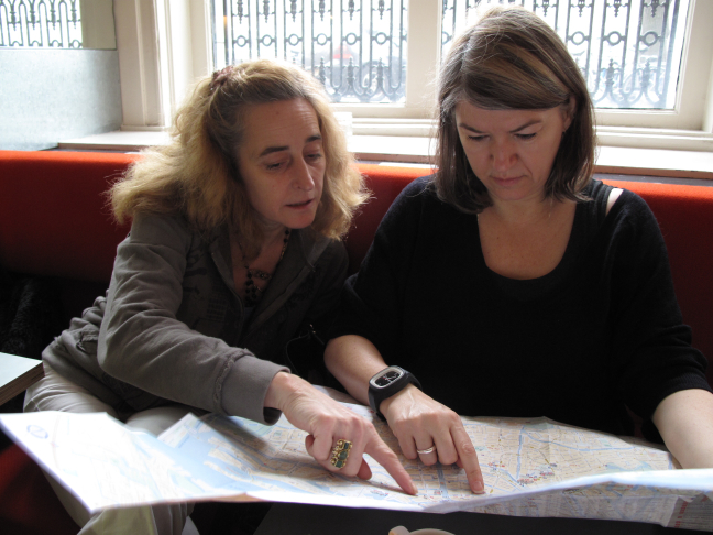 Saskia and Harriet Navigate Through Amsterdam's Old City