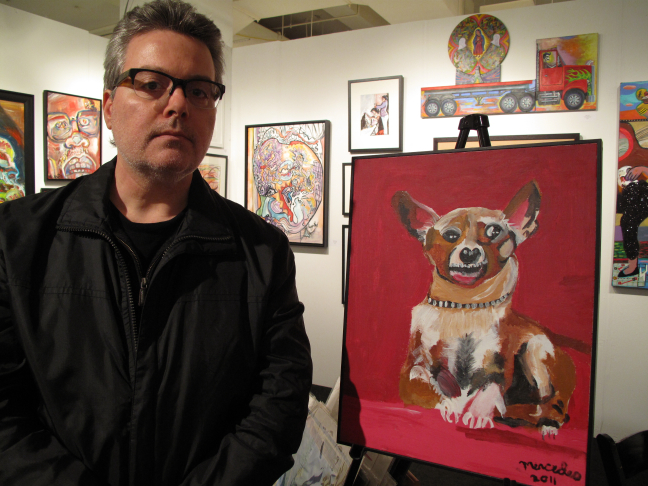 Nicholas and Harriet At The Outsider Art Fair After Visiting With A Friend In NYU Medical Center's Oncology Department
