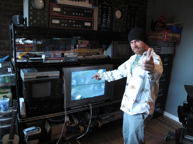 Video Artist Benton Bainbridge In His Home Studio