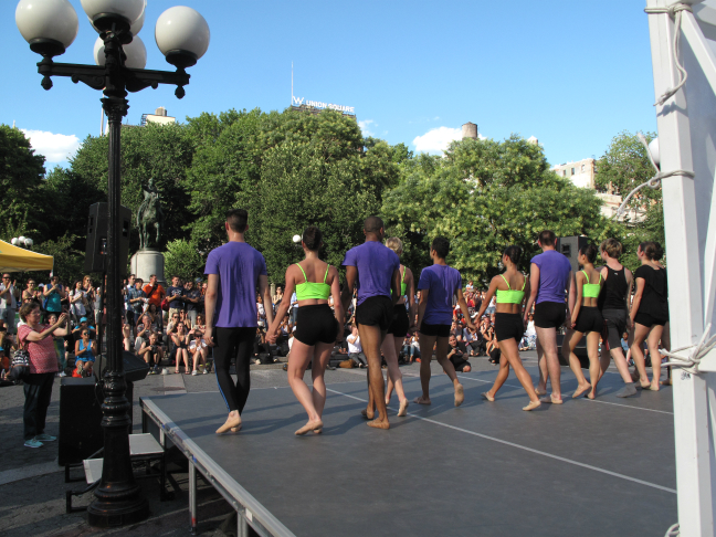 Performance by the Peridance in Union Square