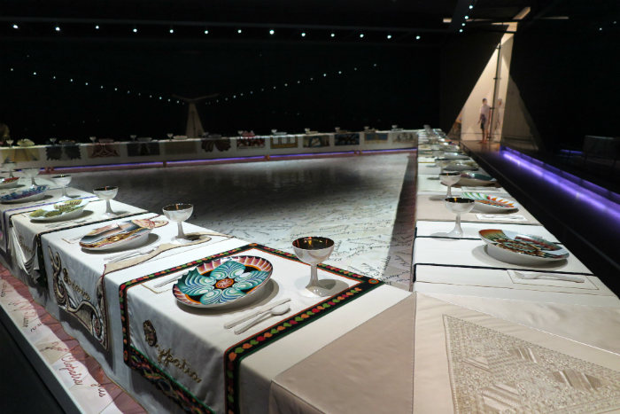 Judy Chicago's The Dinner Party @ The Brooklyn Museum.