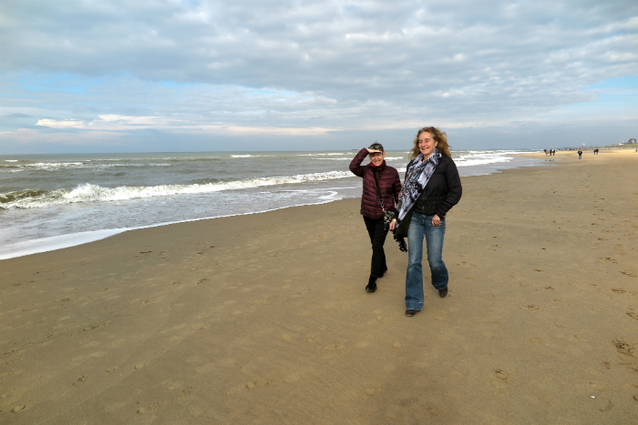 Harriet McCaig and Saskia van Waveren @ The North Sea.